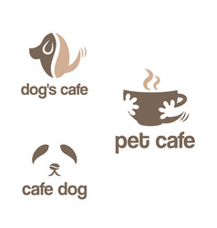 set abstract template logo design for pets vector image