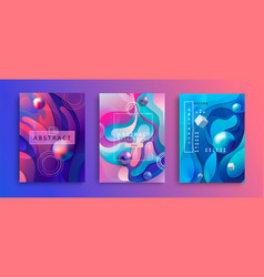 set of abstract gradient backgrounds vector image
