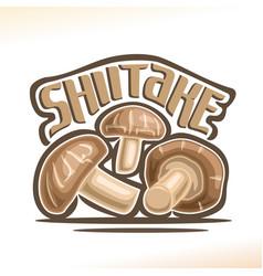 Shiitake mushrooms vector