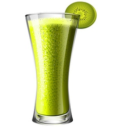 Smoothie drink with fresh kiwi vector