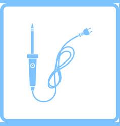 Soldering iron icon vector