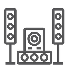 sound system line icon audio and stereo music vector image