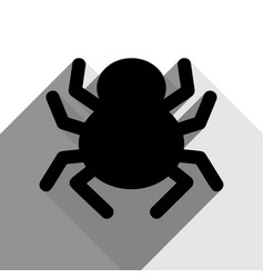 spider sign black icon with vector image