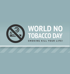 Sticker world no tobacco day vector