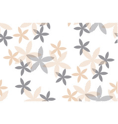 tender rosy beige floral seamless pattern vector image