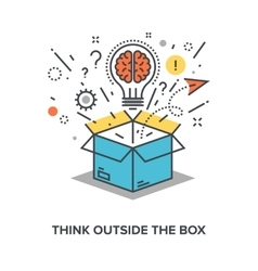 Think outside box vector