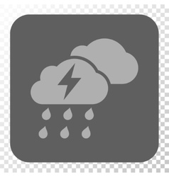 Thunderstorm Clouds Rounded Square Button vector image