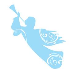trumpeting angel vector image