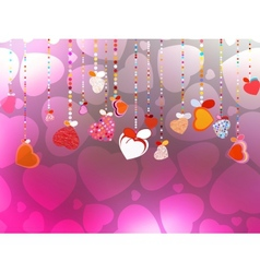 Valentines Day Background EPS 10 vector image