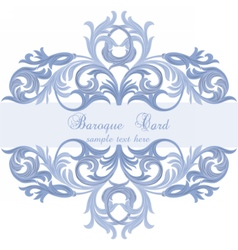 Vintage baroque card vector