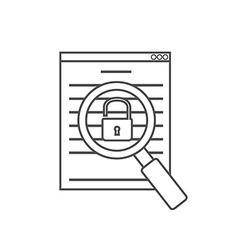 Vulnerability search icon linear vector