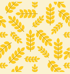 Wheat or leaves seamless pattern vegetable set vector
