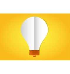 Bulb lamp flat style icon isolated vector image vector image