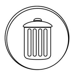 figure can trash emblem icon vector image