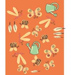 garden bugs vector image vector image