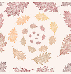 seamless pattern from the leaves of red oak vector image vector image