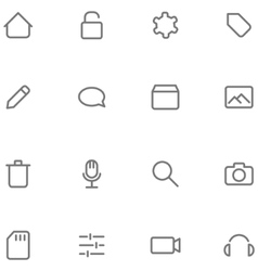 Set icons multimedia vector image