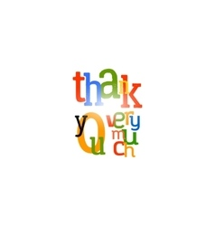 Thank you very much colorful label vector image