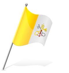 flag of Vatican vector image