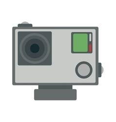 Flat action camera icon vector image vector image