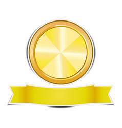 gold circle banners on white background vector image vector image