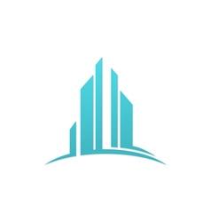 modern building business finance logo vector image