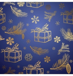 seamless christmas background design element vector image vector image