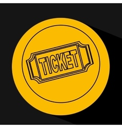 Silhouette head concept cinema ticket vector