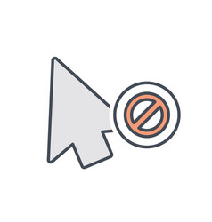 arrow click cursor disable mouse pointer icon vector image