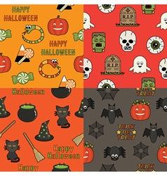 halloween patterns vector image