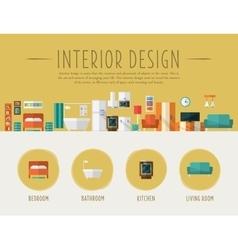 Interior Design Flat vector image