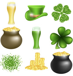 saint patricks day set vector image vector image