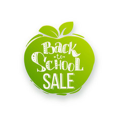 back to school sale on apple shape vector image vector image