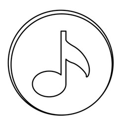 figure music emblem icon vector image vector image