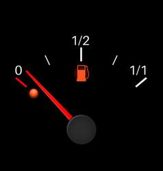 fuel gauge black empty tank vector image vector image
