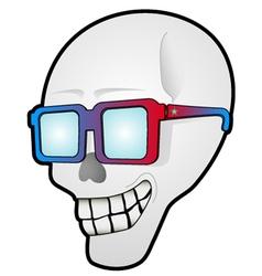 Funny skull head vector image