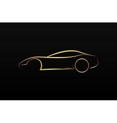 Golden car logo vector image