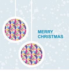 postcard with colorful christmas toy vector image vector image