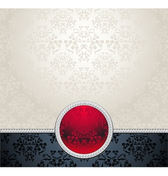 Seamless pattern in Victorian Red Black Silver col vector image vector image