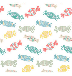 seamless texture with cartoon multicolored festive vector image vector image