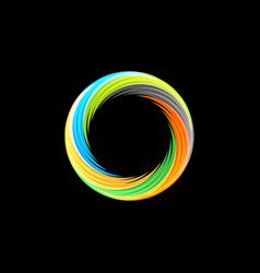 Abstract colorful isolated logo hurricane vector