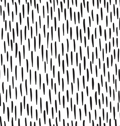 Abstract doodles pattern with strokes Black and vector image