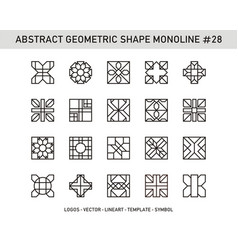 Abstract geometric shape monoline 28 vector