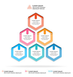 Abstract infographics template layered pyramid vector