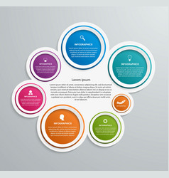 Abstract options infographics template vector