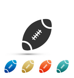 American football ball icon on white background vector