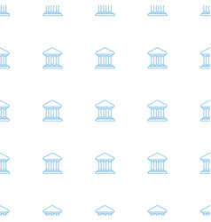 Bank icon pattern seamless white background vector