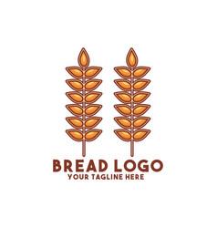 Bread logo modern concept design vector