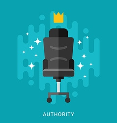Business Concept Authority in Flat Design Style vector