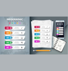 business infographic mockup for your idea vector image